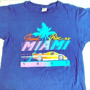 VTG 1987 Grand Prix Miami single stitch Large L